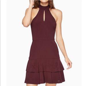 Parker Luana NWOT Burgundy Halter Tiered Dress